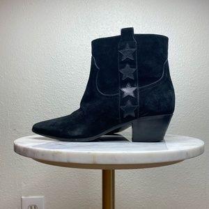 Saint Laurent suede booties